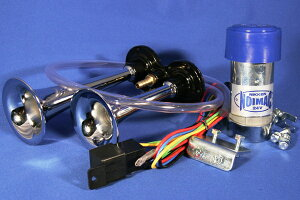 コンパクトなポンプ、ヤンキーホーン 専用リレーハーネス付属の完全キット 高音・大迫力のア...