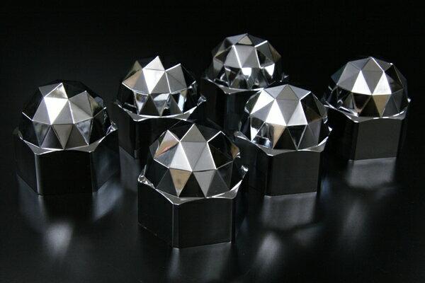 ダイヤカットで足元キラキラ IS ダイヤモンドナットキャップ 41mm リア用 6個入