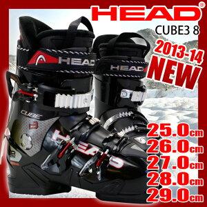 【アウトレット】 ヘッド スキーブーツ HEAD CUBE3 8 ブラック メンズ 25.0/26.0/27.0/28.0/29.0【RCP】【メール便不可・宅配便配送】