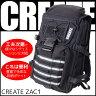 CREATE (クリエイト) バックパック トレッキング アウトドア ZAC1 ブラック リュック