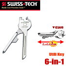 SWISS+TECH������󥰥ġ��륻�å�6-in-1Utili-KeyKeyRingToolSet