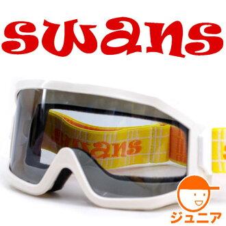 Children's SWANS ◆ 703 S white ♪ スワンズスノーゴーグル