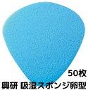 興研 KOKEN 吸湿スポンジ卵型 1袋50枚入 マスク内吸湿材 取替え式防じんマスク用 1010A 1005RR