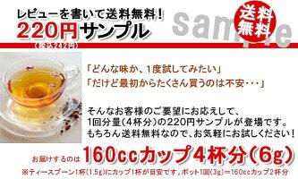 紅茶ダージリンセカンドサンプル紅茶リーフ4杯分(6g)220円【1個から送料無料】【リピート購入OK】メール便送料無料