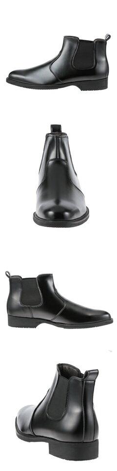 [マラソン期間中ポイント5倍][バレンチノバサリ] Varentino Vasari 1909 メンズ   サイドゴアブーツ   ショートブーツ 防水防滑   トレンド 流行   小さいサイズ対応 24.5cm   ブラック SP