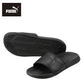[プーマ] PUMA 360265 L 03 レディース | シャワーサンダル | ポップキャット | 軽量 クッション性 | 小さいサイズ対応 22.0cm | ブラック