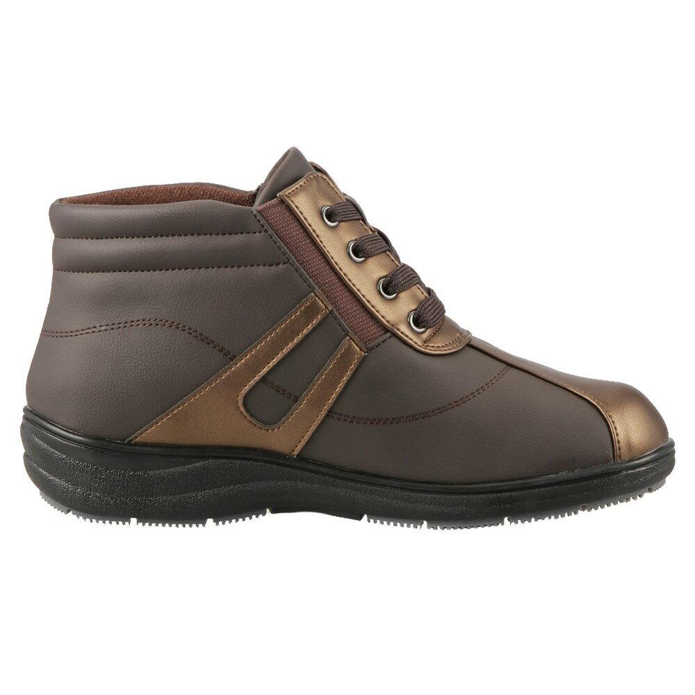 [マラソン期間中ポイント5倍]バイオフィッター サーモ Bio Fitter ブーツ BFL2746 レディース 靴 靴 シューズ 4E相当 ショートブーツ ハイカットスニーカー 防水 軽量 消臭 幅広 防寒 暖かい 履きやすい 小さいサイズ対応 22.5cm 大きいサイズ対応 25.0cm ダークブラウン SP