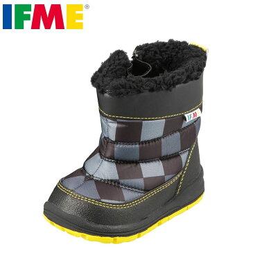 イフミー IFME ブーツ 22-7715 キッズ 靴 靴 シューズ 3E相当 ベビーブーツ ショートブーツ 幅広 ゆったり 履きやすい 子供 女の子 男の子 チェック おしゃれ ブラック SP
