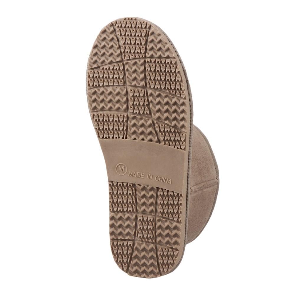 [マラソン期間中ポイント5倍]ジッパー Zipper ブーツ ZP-574 レディース 靴 シューズ 2E ムートン 風 ブーツ ショートブーツ カジュアル ショート丈 幅広 撥水 シンプル 大きいサイズ対応 25.0cm 25.5cm オーク SP