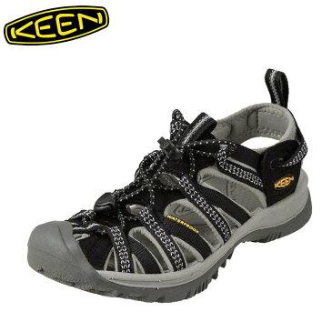 [全商品ポイント5倍]キーン KEEN サンダル 1008448 レディース靴 靴 シューズ 2E相当 スポーツサンダル 軽量 アウトドア キャンプ レジャー ウィスパー 大きいサイズ対応 25.0cm ブラック SP