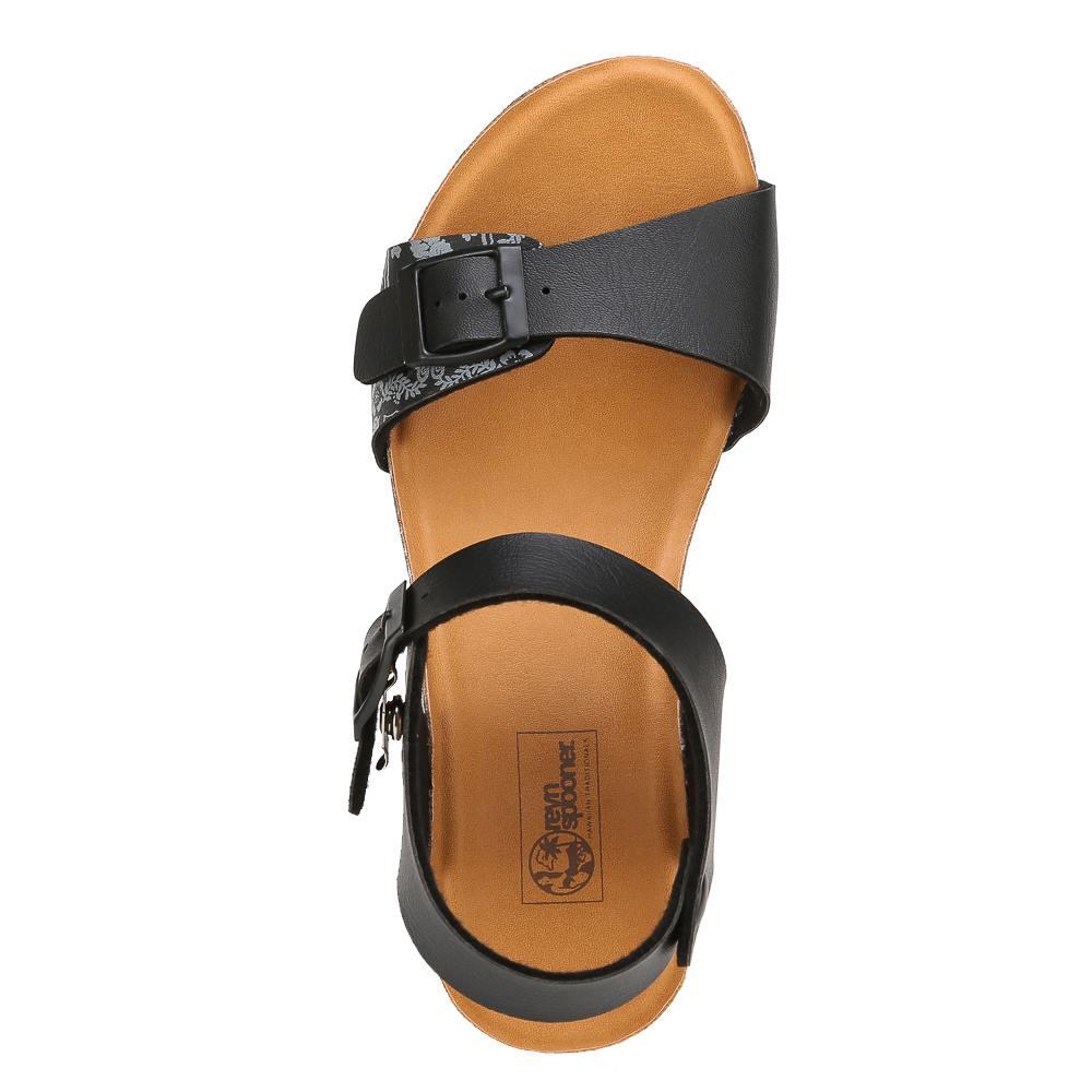 レインスプーナー reyn spooner サンダル RS2006 レディース靴 靴 シューズ 2E相当 ウェッジソールサンダル アンクルストラップ ペイズリー柄 おしゃれ 小さいサイズ対応22.0cm 大きいサイズ対応 25.0cm ブラック SP