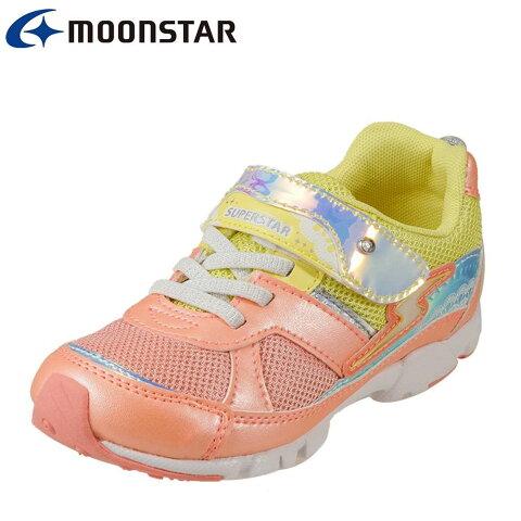 [マラソン期間中ポイント5倍]スーパースター SUPER STAR スニーカー SS K838  キッズ靴 靴 シューズ 2E相当 ローカットスニーカー ガールズシューズ 女の子 女子 女児 軽量 体育 運動会 スポーツ バネのチカラ 人気 イエロー SP
