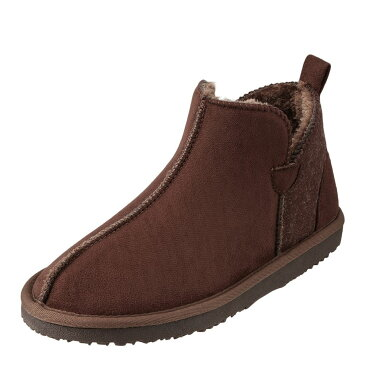 モズ MOZ ブーツ ムートンブーツ MOZ-1000 レディース靴 靴 シューズ 2E相当 ショートブーツ ぺたんこ ムートン風ブーツ ローヒール 歩きやすい おしゃれ カジュアル 大きいサイズ対応 24.5cm 25.0cm 25.5cm ダークブラウン SP