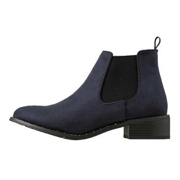 ロイヤルパーティ ROYAL PARTY ブーツ RP1811 レディース靴 靴 シューズ 2E相当 サイドゴアブーツ ショートブーツ ローヒール スタッズ 履きやすい 歩きやすい おしゃれ 大きいサイズ対応 24.5cm 25.0cm ブルースエード SP