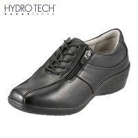 ハイドロテック・ファムHYDROTECHfemmeHD2310レディースウォーキングシューズ幅広3E本革防水機能サイドジッパーブランド軽量ブラック(小さいサイズ)