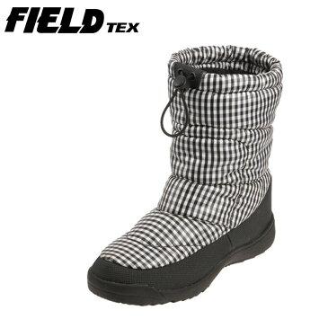 [マラソン中ポイント5倍][フィールドテックス] FIELD TEX レディースダウンブーツ FT-23SP レディース | スノーブーツ | 長靴 ブーツ | 防水 防滑 | スパイク付き 安全 | チェック SP