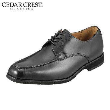 セダークレスト クラシックス ビジネスシューズ CC-1651 メンズ 靴 シューズ 3E ビジネスシューズ 撥水 外羽根 Uチップ レースアップ 仕事 通勤 通気性 蒸れにくい 滑りにくい ブラック TSRC