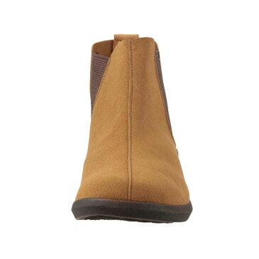 シュッテ Shutte ブーツ ST-3007 レディース 靴 靴 シューズ 2E相当 サイドゴアブーツ ショートブーツ ぺたんこ フラット 日本製 国産 大きいサイズ対応 25.5cm キャメル TSRC