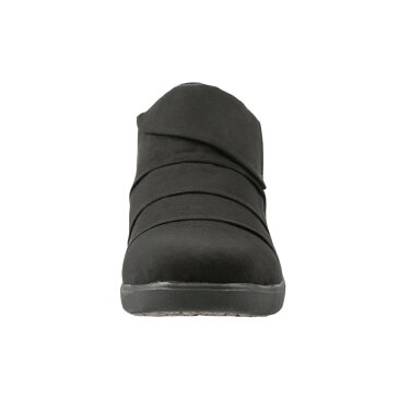 バイオフィッター レディース Bio Fitter スリッポン BFL-3012 レディース 靴 シューズ 3E相当 スリッポン 防水 ローカット カジュアル 滑りにくい 保温 あったか 履きやすい 幅広 ゆったり ブラック×スエード TSRC