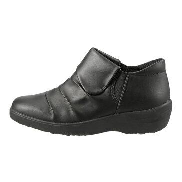 バイオフィッター レディース Bio Fitter スリッポン BFL-3012 レディース 靴 シューズ 3E相当 スリッポン 防水 ローカット カジュアル 滑りにくい 保温 あったか 履きやすい 幅広 ゆったり ブラック×スムース TSRC