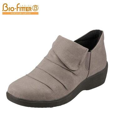 バイオフィッター レディース Bio Fitter スリッポン BFL-3012 レディース 靴 シューズ 3E相当 スリッポン 防水 ローカット カジュアル 滑りにくい 保温 あったか 履きやすい 幅広 ゆったり オーク×スエード TSRC