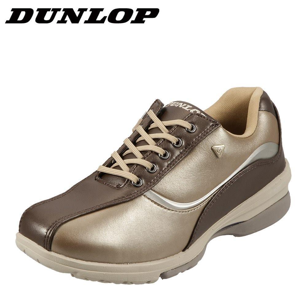 [マラソン期間中ポイント5倍]ダンロップ DUNLOP ウォーキングシューズ DW311 レディース 靴 シューズ 4E相当 ウォーキングシューズ ローカットスニーカー レースアップ 軽量 幅広 歩きやすい ジップ 履きやすい サンド TSRC