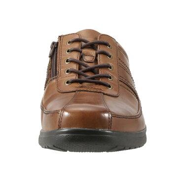 フレッシュゴルフ Fresh Golf コンフォートシューズ FG734 メンズ靴 靴 シューズ 4E相当 カジュアルシューズ 本革 軽量 幅広 ローカット レースアップ 小さいサイズ対応 24.5cm ブラウン TSRC