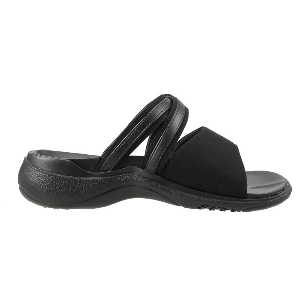 ハコカ HAKOKA サンダル HA9210 レディース靴 靴 シューズ 3E相当 コンフォートサンダル オフィスサンダル エッグソール 厚底 幅広 衝撃吸収 シンプル 大きいサイズ対応 25.0cm 25.5cm ブラック TSRC