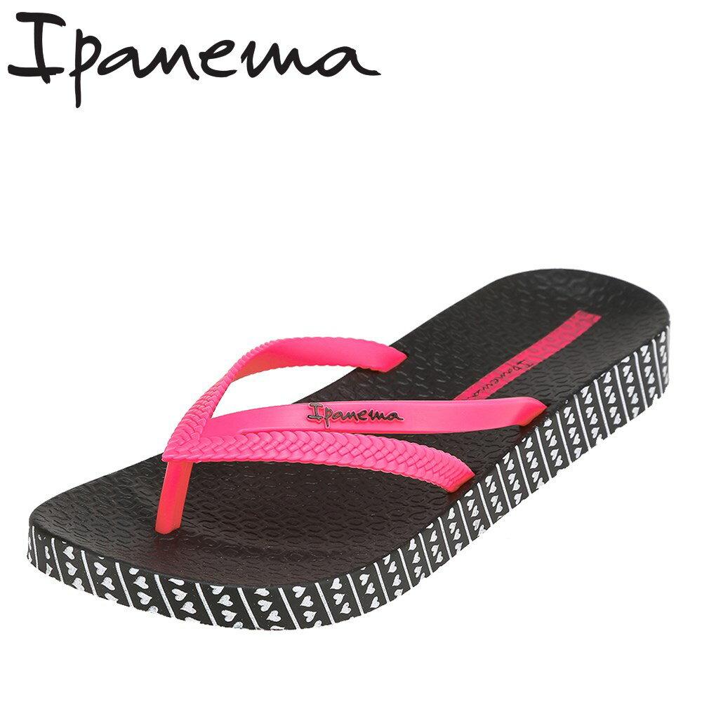 イパネマ Ipanema サンダル PM82064 レディース靴 靴 シューズ 2E相当 ビーチサンダル トングサンダル フラット ぺたんこ クッション性 厚底 ブラック TSRC