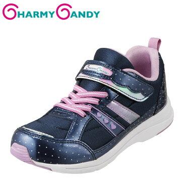 チャーミーキャンディ CHARMY CANDY スニーカー CCG-53 キッズ 靴 靴 シューズ 2E相当 ローカットスニーカー 子ども 女の子 軽量 屈曲性 履きやすい 歩きやすい おでかけ 学校 通学 キラキラ ドット かわいい おしゃれ ネイビー TSRC