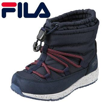 [マラソン中ポイント5倍]フィラ FILA ブーツ FCY-6202J キッズ 靴 靴 シューズ 2E相当 ダウンブーツ スノーブーツ 子ども 男の子 スニーカーブーツ 雪靴 冬靴 ショート丈 保温性 暖かい ネイビー TSRC