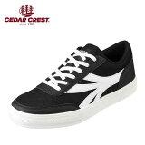 セダークレスト CEDAR CREST CC-9261 メンズ靴 2E相当 カジュアルスニーカー クラシカル クラシック コートスニーカー 人気 ブランド ブラック TSRC