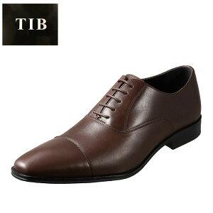 ティーアイビー T.I.B TIB-9802 メンズ靴 3E相当 ビジネスシューズ ストレートチップ 本革 牛革 小さいサイズ対応 ダークブラウン TSRC