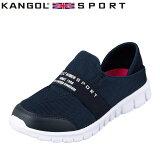 カンゴールスポーツ KANGOL SPORT KG9651 レディース靴 3E相当 カジュアルシューズ 軽量 軽い クロッグシューズ スリッポン ネイビー TSRC