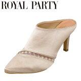 ロイヤルパーティ ROYAL PARTY RP5254 レディース靴 靴 シューズ 2E相当 ミュール ポインテッドトゥ チュール ハイヒール ベージュ TSRC