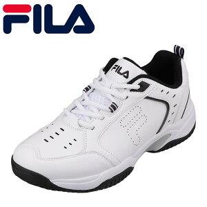 フィラ FILA FC-4209 メンズ靴 靴 シューズ 2E相当 テニス スニーカー 通気性 快適 当店限定 オリジナル 大きいサイズ対応 ホワイト×ブラック TSRC