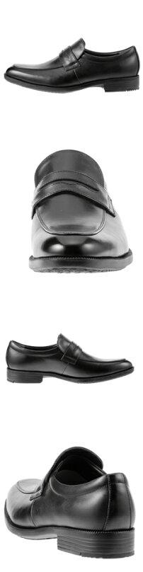 ハイドロテック・ウルトラライトHYDRO-TECHULTRALIGHTローファーHD1312メンズ軽量ビジネスシューズ通勤靴本革仕様ロングノーズ幅広3Eローファースリッポンブラック