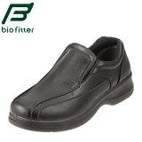 [バイオフィッター ベーシックフォーメン] Bio Fitter BF-2912 メンズ | スリッポン | バンプ カジュアル | 脱ぎ履きしやすい 幅広 | 大きいサイズ対応 28.0cm | ブラック TSRC