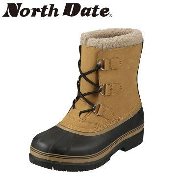 [マラソン中ポイント5倍][ノースデイト] North Date MG5001 メンズ   スノーブーツ   ショートブーツ 雪対策   防水仕様 ラバーブーツ   大きいサイズ対応 24.5cm 25.0cm 25.5cm   キャメル TSRC