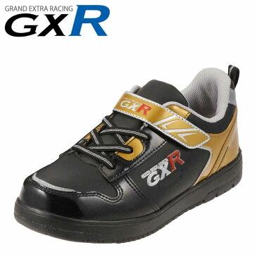 [ジーエックスアール] GXR JO-20640 キッズ・ジュニア | ジュニアスニーカー キッズスニーカー | 男の子 子供靴 | 着脱デープ 面ファスナー | コートシューズ 防水 | ブラック×ゴールド TSRC