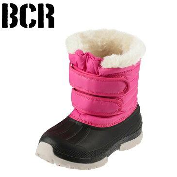 [スーパーSALE中ポイント10倍][ベアクリーク] BEARCREEK BCK0877 キッズ・ジュニア | キッズブーツ | 子供用ブーツ ダウンブーツ | 防寒 面ファスナー | 男の子 女の子 | ピンク×ブラック TSRC