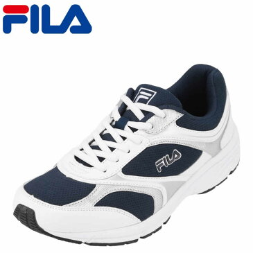 フィラ FILA スニーカー FL-3243M ハイモーションRAP メンズ靴 靴 シューズ 3E ランニングシューズ スポーツ スニーカー ローカット カジュアル ウォーキング ジョギング ジム 軽量 軽い ゆったり クッション性 衝撃吸収 ネイビー×ホワイト TSRC