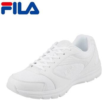 フィラ FILA スニーカー FRU-112 cratere メンズ靴 靴 シューズ 3E ランニングシューズ スポーツ スニーカー ローカット メンズスニーカー ウォーキング ジョギング ジム 白 通学 カジュアル 大きいサイズ対応 28.0cm ホワイト TSRC