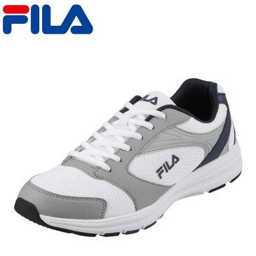 フィラ FILA スニーカー FRU-112 cratere メンズ靴 靴 シューズ 3E ランニングシューズ スポーツ スニーカー ローカット メンズスニーカー ウォーキング ジョギング ジム カジュアル スポーティ 大きいサイズ対応 28.0cm ホワイト×ネイビー TSRC