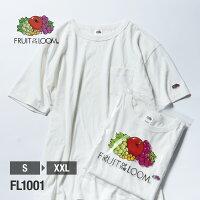 FRUITOFTHELOOMヘビーウェイトクルーネックポケット付きTシャツ(袖ワッペン)