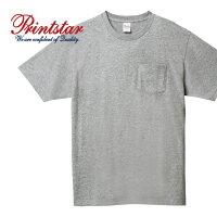 Printstarプリントスター5.6オンスヘビーウェイトポケットTシャツ00109-PCT