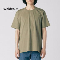 DOUBLELIBSダブルネックリブ厚手半袖Tシャツwhideout