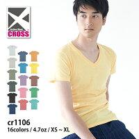 CROSS(クロス):トライブレンドVネックTシャツ:XS〜XL