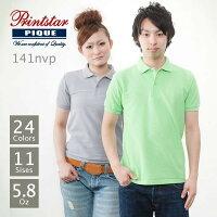 Printstar(プリントスター):T/Cポロシャツ(ポケ無):Jr-S〜Jr-L:53%OFF