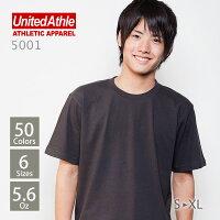 UnitedAthle(��ʥ��ƥåɥ�����)��Ⱦµ̵�ϣԥ����5.6oz.���ۥ磻�ȡ��֥�å������졼��S��XL